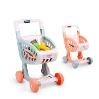 儿童购物车玩具女孩 超市推车过家家宝宝声光厨房玩具套装