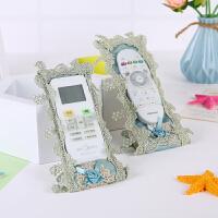 欧式高档布艺遥控器保护套蕾丝刺绣防尘罩电视空调机顶盒遥控套