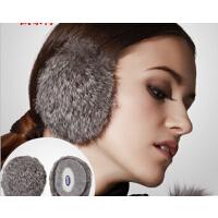 男皮草耳包冬耳暖无发箍护耳耳捂  男士兔毛耳套女可爱保暖女性耳罩