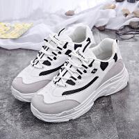 女鞋2018夏季新款休闲鞋女透气网布鞋女小白鞋女内增高板鞋韩版老爹鞋