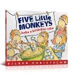 【顺丰速运】英文原版 Five Little Monkeys Bake a Birthday Cake 五只小猴子做生