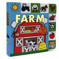 英文原版纸板书 低幼童书推荐 Lift-the-Flap Tab: Farm 进口版图书