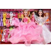 音乐巴比洋娃娃套装大礼盒婚纱公主衣服女孩子玩具儿童生日礼物
