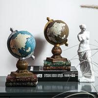 家居创意客厅酒柜装饰品小摆设复古办公室桌面地球仪摆件