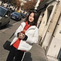 面包外套2018冬装新款韩版潮宽松时尚短款轻薄羽绒服女潮