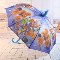 儿童雨伞防水套可爱卡通小学生幼儿园男女雨伞女孩小孩公主儿童伞 浅绿色 蜘蛛人大眼睛