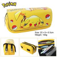 宠物小精灵笔袋神奇宝贝动漫皮卡丘大容量文具包包学生铅笔盒钱包