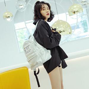 沐鱼双肩包女2018新款书包韩版学生背包旅行包休闲女包大