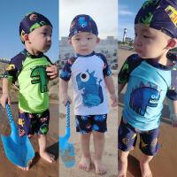 儿童泳衣宝宝男孩小中大男童温泉泳装分体泳裤