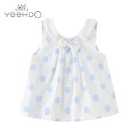 【直降】英氏女宝宝纯棉背心婴儿衣服女童夏季吊带上衣外出服 172835