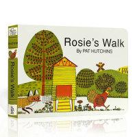 【全店300减100】英文原版 Rosie's Walk Board Book 母鸡萝丝去散步 纸板撕不烂书 亲子阅读启