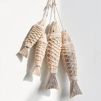 乡村复古地中海木质创意鱼挂饰墙饰餐厅家居壁饰墙面装饰挂件