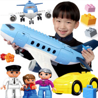益龙灵(YILONGLING) 儿童积木玩具益智大颗粒拼装大号飞机拼插模型男女孩玩具