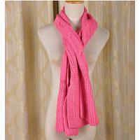 毛线围巾秋 冬季保暖百搭针 织纯色女士韩版 围脖披肩两用