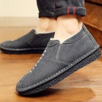 老北京布鞋男韩版潮流休闲板鞋男士冬季棉鞋加绒鞋子男保暖帆布鞋