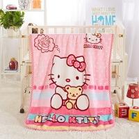 婴儿毛毯儿童云毯新生儿抱被包被宝宝童毯小孩被子双层加厚冬盖毯