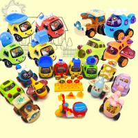 迷你卡通儿童玩具工程车模型宝宝耐摔套装组合男孩回力惯性小汽车