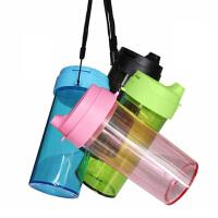 水杯简约随手杯冷水杯创意女学生成人运动水壶防漏随身便携颜色随机