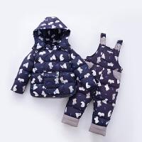 儿童羽绒服套装男女宝宝冬装外套小童1-3岁婴幼儿两件套童装反季