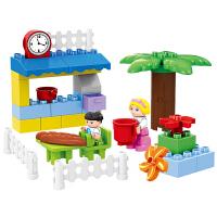 积木拼装大颗粒温馨家庭拼插儿童玩具2-3-6周岁