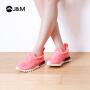 【低价秒杀】jm快乐玛丽春季时尚平底增高厚底套脚运动鞋休闲鞋松糕女鞋75006W