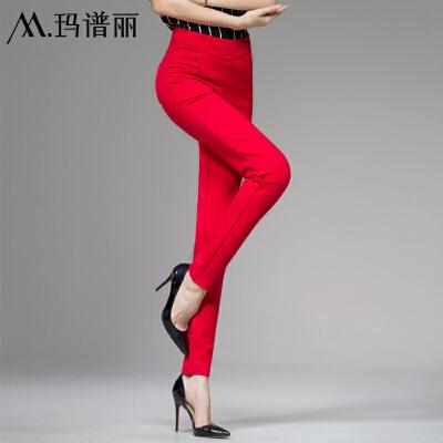 大红色打底裤结婚穿女士秋款铅笔裤外穿长裤大码弹力高腰女裤子 大红色 发货周期:一般在付款后2-90天左右发货,具体发货时间请以与客服协商的时间为准