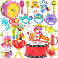婴儿玩具 0-1岁宝宝手摇铃3-6-12个月新生幼儿男女孩牙胶套装