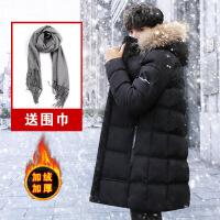 男士棉衣2018新款外套冬季中长款大码韩版潮流羽绒冬装棉袄男 761内里加绒