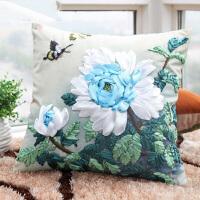 物有物语 十字绣抱枕 丝带绣十字绣抱枕单个立体花卉十字绣靠枕卧室客厅沙发靠垫车枕