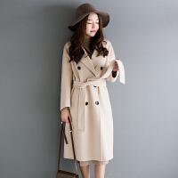 冬装女士厚实款阿尔巴卡双面呢大衣中长款毛呢外套L3/2/39