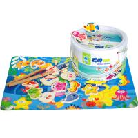 鱼玩具木质磁性1-3岁周女宝宝男女小孩智力套装婴儿童玩具