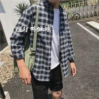 男士衬衣春季2017新款长袖格子衬衫修身韩版潮流帅气夏季寸衫外套
