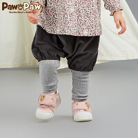 【3件4.5折 到手价:179】Pawinpaw卡通小熊童装秋女宝宝假两件打底裤接拼婴幼儿裤子