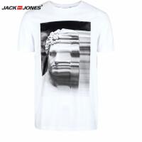 杰克琼斯/JackJones时尚百搭新款T恤 抽象雕塑--39-4-1-216101009023