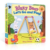 【全店300减100】英文原版 Bizzy Bear Let's Go and Play小熊很忙系列公园欢乐日忙碌的小熊