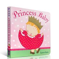 【全店300减100】英文原版 Karen Katz Princess Baby 卡伦卡茨系列可爱女孩装扮1-2-3岁纸