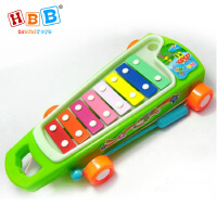 哈比比玩具 2025儿童益智音乐八音手敲琴 钢质琴片早教打击乐器