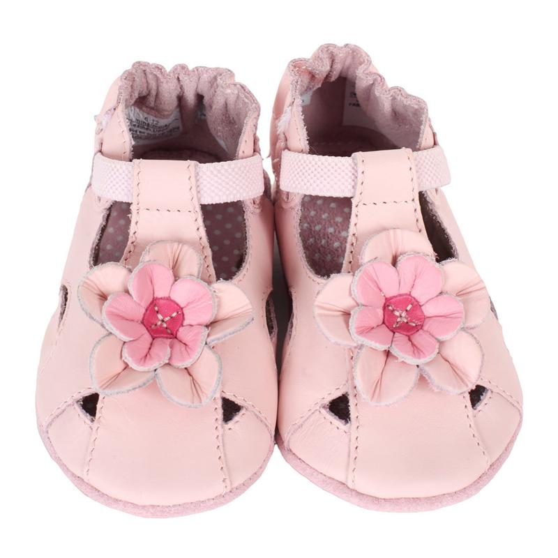 国内贸易  Robeez Pretty Pansy 女童软底皮质步前鞋学步鞋 粉色 包邮包税