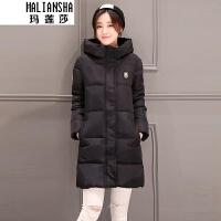 玛莲莎2018秋冬季新款女中长款韩版修身服学生面包服