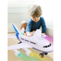 3-6岁男孩玩具车模型 儿童玩具战斗机音乐直升机耐摔大号惯性飞机