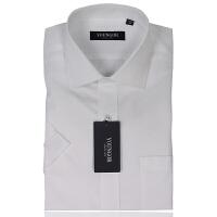 YOUNGOR雅戈尔男装 商务正装 男士衬衫 免烫 白色 短袖衬衫 SNP13221-03