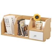 [当当自营]慧乐家 书柜书架 桌面带抽小书架 办公置物架 木 榉木色11010