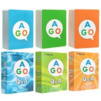 英文原版 AGO Q&A Box Set 魔法英语扑克牌 AGO游戏会话 英语问答系列启蒙 亲子互动英语对话游戏 AP
