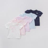 戴维贝拉夏装新款T恤 女童短袖休闲T恤5色DBM7452