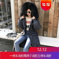 羽绒服女新款中长款修身冬季韩版加厚学生时尚大毛领服潮