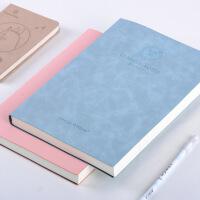 康奈尔笔记本子笔记本a4考研高效方格本大号大学生加厚皮面本
