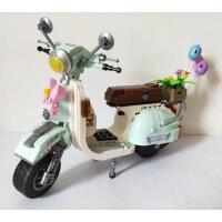 LOZ积木迷你车模拼插益智玩具小绵羊mini车摩托车冰淇淋热狗车