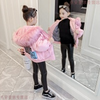 女童棉衣2018新款儿童短款加厚大毛领宝宝棉袄小孩冬装洋气潮