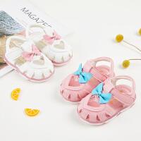 女宝宝凉鞋夏季爱心公主鞋透气婴儿鞋
