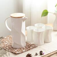 【12.12 三折抢购价95元】汉馨堂 陶瓷茶具套装 家用陶瓷凉水壶简约 耐热冷水壶带木盖茶盘